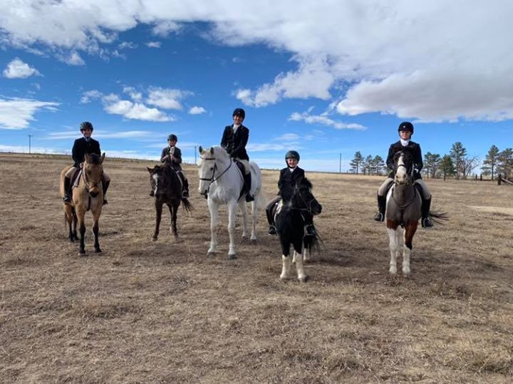 My pony posse at the Phipps-Younglund hunt on Sunday ❤️
