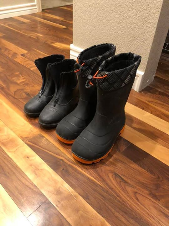 Free - paddock boots size 2, and rubber boots size 3